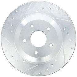 Power Stop Cross Drilled & Slotted Performance Brake Rotor - Left