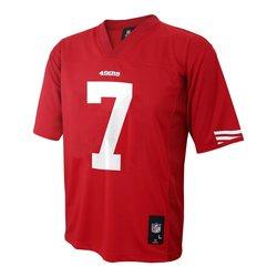 NFL San Francisco 49ers Kapernick Boys 4-7 Mid-Tier Jersey - Crimson - L