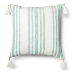 Threshold Woven Stripe Throw Pillow - Aqua Blue - Size: One