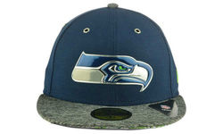 Unisex NFL Seattle Seahawks 2016 59Fifty Fitted Cap - Blue/Gray - Sz:6 3/4