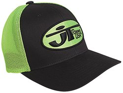 JT Racing USA Men's Hat w/ Oval Logo - Black/Yellow - Size: Large/X-Large