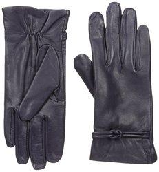 Isotoner Women's Fleece Lining Leather Gloves - Deep Purple - Size: M