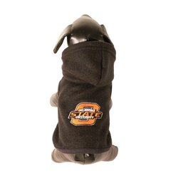 All Star Dogs NCAA Polar Fleece Hooded Dog Jacket - Brown - Size: Small