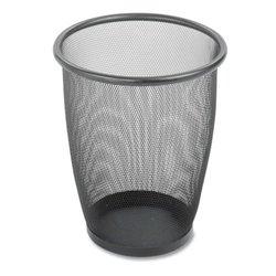 Safco Round Mesh Wastebasket , Black