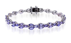 Marquise Tanzanite Bracelet in Sterling Silver