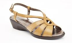 Rasolli Glory-3 Women's Wedge Comfort Sandals - Beige - Size: 10