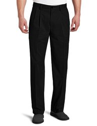 Dockers Men's Big & Tall D3 Classic Pleated Pants - Black - Size: 48x29