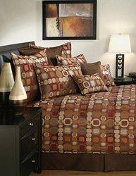 Sherry Kline Metro 4 Piece Comforter Set - Spice - Size: Queen