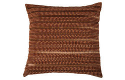 Rizzy Home Hand Applique of Beads & Sequins Decorative Pillow - Orange