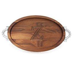 """BigWood Boards Monogrammed 12""""x18"""" Maple Cutting Board - Z"""