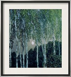 "Art.com Birch Trees - Aleksandra Jakovlevic Golovin Framed 29""x26"" - Green"