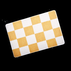 Smartcatcher Checkered Cat Litter Mat Creamy - Yellow & White