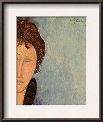 "Art Woman with Blue Eyes Framed Art Print - 14""x12"""