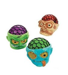 Fun Express Cool Squeeze Disgusting Skull - 1 Dozen