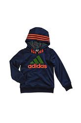adidas Toddler Boy's Athletic Pullover Hoodie - Dark Indigo - Size: 2T