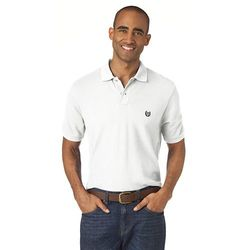 Chaps Men's Solid Pique Polo - Navy - Size: Large