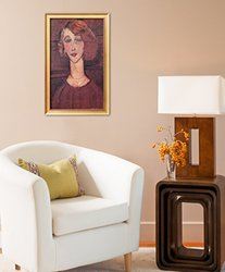 "Art Renee 1917 Framed Giclee Print - Red - Size: 24""x16"""