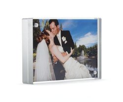 Color Edge Magnet Frame by Canetti-Silver5x7 inch