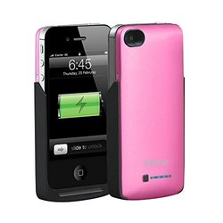 iHome 2000 mAh Power Case for iPhone 4/4s - Pink