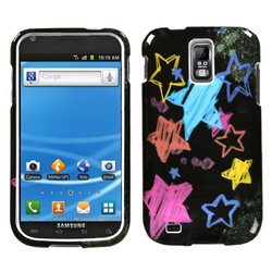 Samsung Hercules Chalkboard Star Black Protector Cover for Galaxy S2 T989