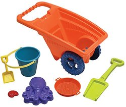 American Plastic 7-Piece Toy Stacking Beach Cart