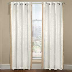 Veratex Grommet Central Park Curtain - Khaki - Size: 50 x 108