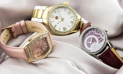 Eberle Austonian Ladies Watch: 62627448/tan Band
