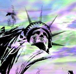 JP London uStrip Peel & Stick New York City Liberty Statue Wall Mural