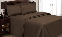 Simple Elegance New York Microfiber Sheet Set: Twin Size Chocolate 219C