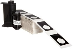 """1.9""""x1.2"""" Polyester Raised Panel Labels for TLS Printers - 100 ct - Black"""