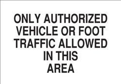"Brady 10"" X 14"" Legend Fiberglass Admittance Sign (70747)"