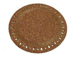 "Kianni Decor PM-09 Jewelled 14"" Diameter Round Placemat - Antique Copper"