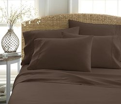 iEnjoy Home Soft Microfiber Bed Sheet Set 6-Pcs - Chocolate - Size: King