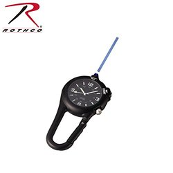 Rothko Clip Watch with Led Light for Pocket or Hand Gear - Black