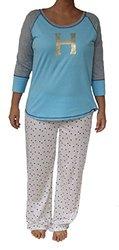 Tommy Hilfiger Women's Holiday Pajama Sleep Pants - Blue- Size: Medium
