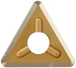 """Dorian Tool TDEX Multilayer Coated Carbide Dovetail Triangle Milling Indexable Insert, 0.0312"""" Nose Radius, General Purpose Chip Breaker for Ferrous Metals, 1/4"""" Insert, 5/64"""" Thick (Pack of 10)"""