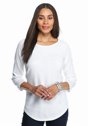 Jeanne Pierre Fine Gauge Sweater White