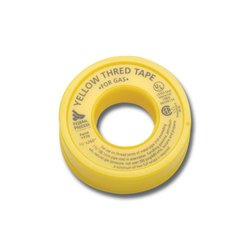 """Gasoila Yellow PTFE High Density Thred Tape Roll, -450 to 550 Degree F Performance Temperature, 3.8 mil Thick, 520"""" Length, 1"""" Width, For Gas"""