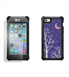 Beyond Cell Tri-Shield Durable Hybrid Hard Shell & Silicone Gel Case for Apple iPhone 5C Lite- Purple Night - Black/Black
