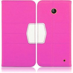 HR Wireless PU Leather Premium Wallet TPU Flip Cover Case - Retail Packaging - Hot Pink