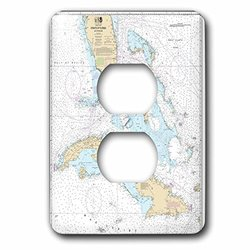 Print of Cuba/Straights of Florida Chart 2 Plug Outlet Cover(lsp_204867_6)