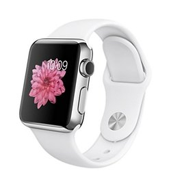 Apple Sport Smart Watch - White - 3MM (MJ302HN/A)