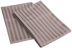 650TC Cotton Standard Stripe 2-Piece Pillowcase Set  Grey