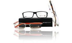 Tag Heuer Men's Trends Rimless Designer Eyeglasses - Tortoise/Ruthenium