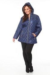 White Mark Women's Plus Size Puffer Coat - Navy - Size: 1X