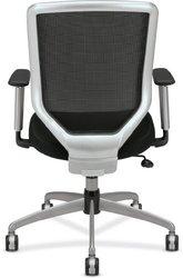 "Boda Titanium Mesh Desk Chair 44"" Overall Height black"