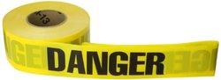 "Brady 3"" Width B-912 Polyethylene Barricade Tape - Yellow/Black"