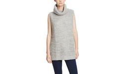 Six Crisp Days Women's Turtleneck Sweater - Heather Gray - Size: M/L