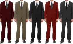 Bernardi Classic Fit 2-piece Suit: Charcoal/46rx40w