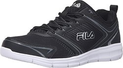 Fila Men's Windstar 2 Running Shoe - Black/Black/Metallic Silver - Size:12